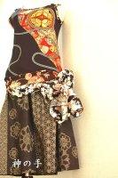 レディース和柄タンクトップ3点&腰布付きパンツ