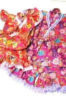 姉妹おそろいフリフリ甚平・紫とピンク