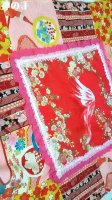 春夏用和柄おくるみ・女の子ベビーに赤ピンク富士山