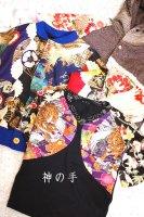 和柄キッズ服ブルゾン、長袖Tシャツ,カーディガン,鯉や虎や鶴