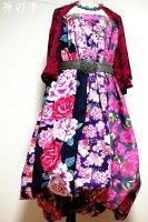 和柄2WAYバルーンスカート&ワンピース/麗し花々
