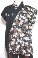 ★一点物・受注作製★和柄・和の装いノースリーブトップス☆メンズS〜5L