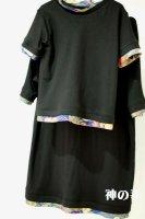 ★受注作製★和柄・シンプル重ね着風半袖Tシャツ☆ベビー,キッズ,レディース,メンズ
