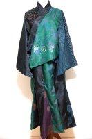 【即納】羽織&マーメイドスカート 和装セットアップスーツ 和柄 渋グリーン