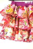 ★一点物・受注作製★和柄・フリフリ3段スカート付き・かぼちゃパンツ☆子供服サイズ70〜140