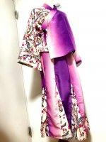 【即納】和装スーツ・セットアップ 羽織り&マーメイドスカート 熨斗×グラデーション 2L〜4L