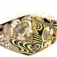 【即納】ゴージャス!金襴の桜満杯 和柄立体型マスク 不織布内蔵 通年タイプ Lサイズ