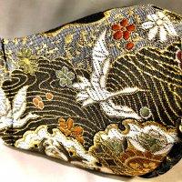 【即納】金襴 群鶴 和柄立体型マスク 不織布内蔵 通年タイプ Lサイズ