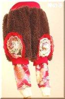 ★一点物・受注作製★和柄・スパッツ一体化ふわふわファーパンツ☆ベビー,キッズ,レディース