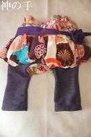 ★一点物・受注作製★和柄・スカート付き女の子モンキーパンツ☆ベビー服・70,80,90,100