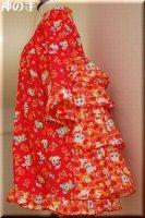 ★一点物・受注作製★和柄後ろ4段フリフリワンピース☆子供服サイズ70〜140