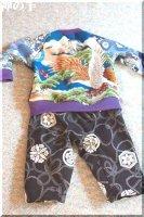 ★一点物・受注作製★和柄セパレート風カバーオール・ロンパース�ベビー服・60,70,80,90