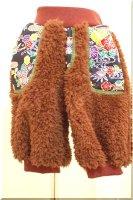 ★一点物・受注作製★和柄・リバーシブルファーパンツ/丈選べる☆ベビー,キッズ,レディース