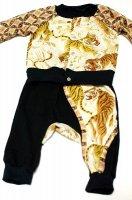 ★受注作製★ベビー服・和柄モンキーパンツ&カーディガンセット☆ベビー服・70,80,90,100