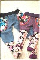 ★一点物・受注作製★和柄・くしゅくしゅスパッツ,レギンス☆子供服サイズ70〜140