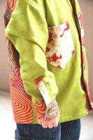 ★一点物・受注作製★和柄・カフス&襟付き長袖シャツ☆ベビー,キッズ,レディース,メンズ
