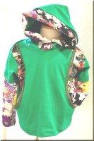 ★一点物・受注作製★和柄・前ポケット切替重ね着風長袖Tシャツ☆ベビー,キッズ,レディース,メンズ