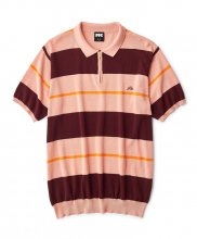 STRIPED KNIT POLO