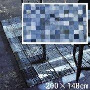 【送料無料】リビングラグ/デザインラグ/デニム パッチワーク/140 200