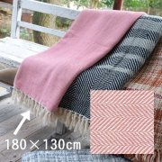 【送料無料】ブランケット ベッドカバー/180×130/ピンク