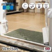 【送料無料】玄関マット ドアマット/洗える/タートルマット/プレインセージグリーン/室内外兼用マット/50×75cm/イギリス製