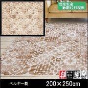 【送料無料】ラグ/カーペット/ニケ00/ベルギー/床暖/200×250/受注生産