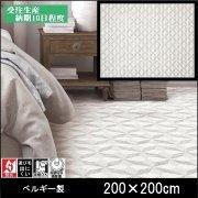 【送料無料】ラグ/カーペット/ニケ01/ベルギー/床暖/200×200/受注生産