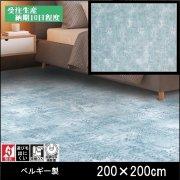 【送料無料】ラグ/カーペット/ニケ02/ベルギー/床暖/200×200/受注生産