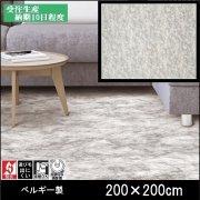 【送料無料】ラグ/カーペット/ニケ03/ベルギー/床暖/200×200/受注生産