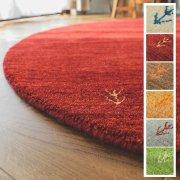 【送料無料】ギャベ ラグ 絨毯/円形 直径190cm ウール100%/手織りギャッベ/床暖/アヤカ/7色