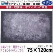 【送料無料】玄関マット ドアマット 中型/ウォッシュ&ドライ/洗える/SHADES グレー/75×120cm