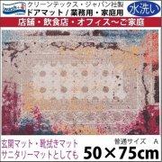 【送料無料】玄関マット ドアマット/ウォッシュ&ドライ/洗える/TAZA ピンク/50×75cm