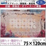 【送料無料】玄関マット ドアマット 中型/ウォッシュ&ドライ/洗える/TAZA ピンク/75×120cm