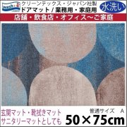 【送料無料】玄関マット ドアマット/ウォッシュ&ドライ/洗える/ギャラクシー/50×75cm