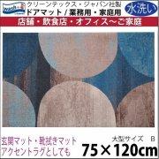 【送料無料】玄関マット ドアマット 中型/ウォッシュ&ドライ/洗える/ギャラクシー/75×120cm