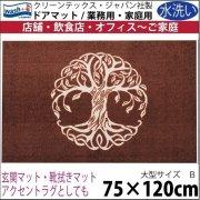 【送料無料】玄関マット ドアマット 中型/ウォッシュ&ドライ/洗える/赤みがかった木/75×120cm