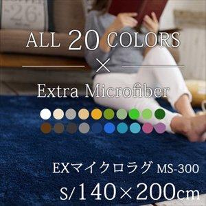 【送料無料】丸洗いOK!滑り止め加工/20カラーEXマイクロラグマット/140×200cm