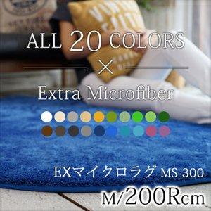 【送料無料】丸洗いOK!滑り止め加工/20カラーEXマイクロラグマット/径200cm円形