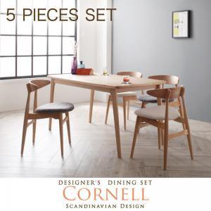 【送料無料】ダイニングセット 北欧デザイナーズダイニングセット/Cornell/コーネル/5点セット(テーブル+チェアA×4)3カ…