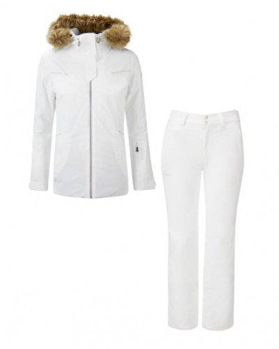 2018 HALTI Vikkan W Jacket (P00 White) & Puntti W Pants (P00 White) 上下セット