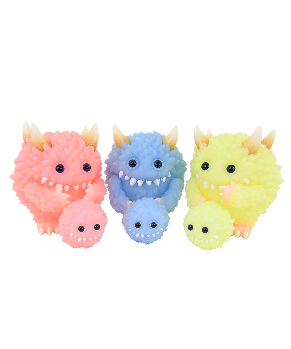 Monster Fluffy & Fluffy 3 Colors Set