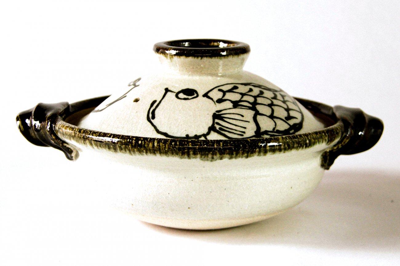魚絵鍋(尺寸)