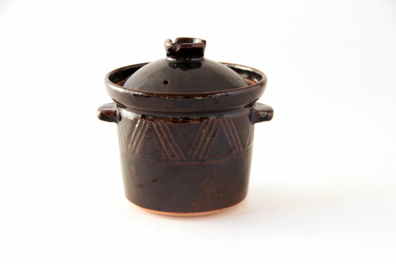 煮込鍋 アメ釉(7寸)