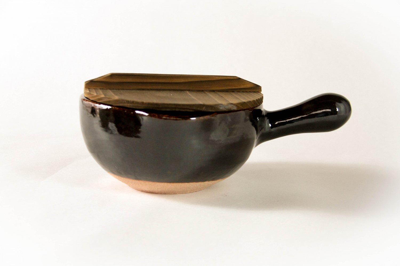 片手鍋 アメ釉(7寸)
