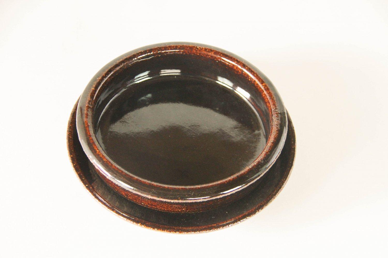 アメ釉グラタン皿(5寸)