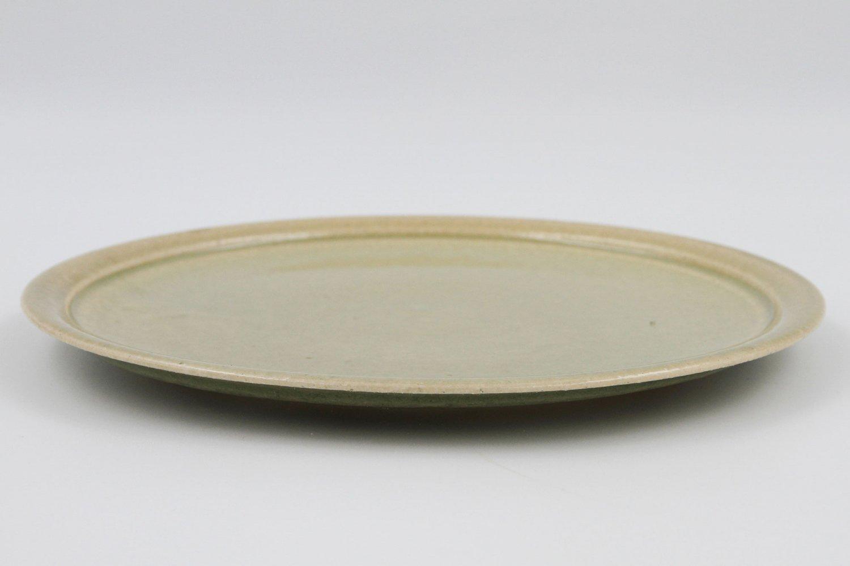 灰釉折縁皿(8寸)