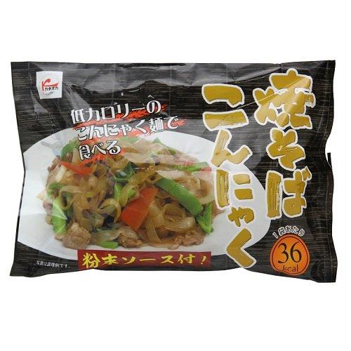 低カロリーのこんにゃく麺で食べる 焼きそばこんにゃく 【カタオカ】