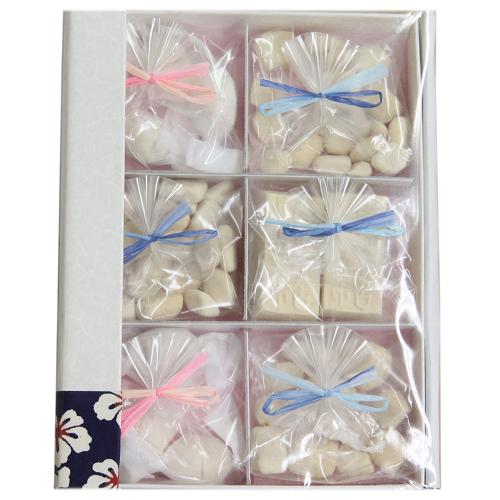 【霰糖27g,干菓子12個入】阿波和三盆糖文庫【岡田糖源郷】