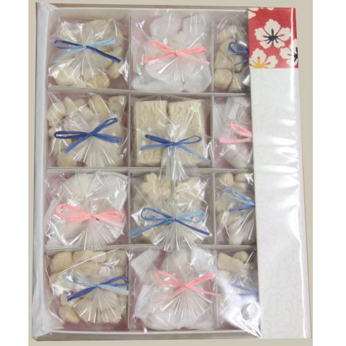 【霰糖54g,干菓子28個入】 霰糖 文庫箱入り(干菓子セット)【岡田糖源郷】