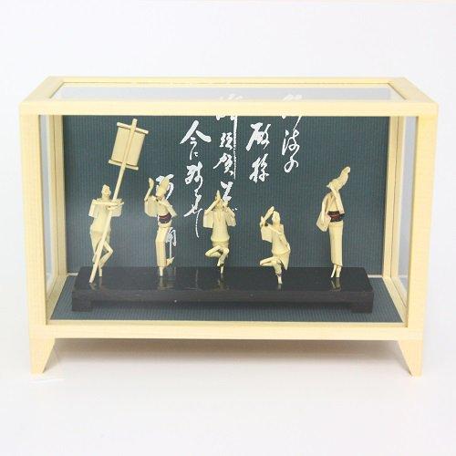 阿波踊り竹人形(5人連)【ケース付き】【あわや】